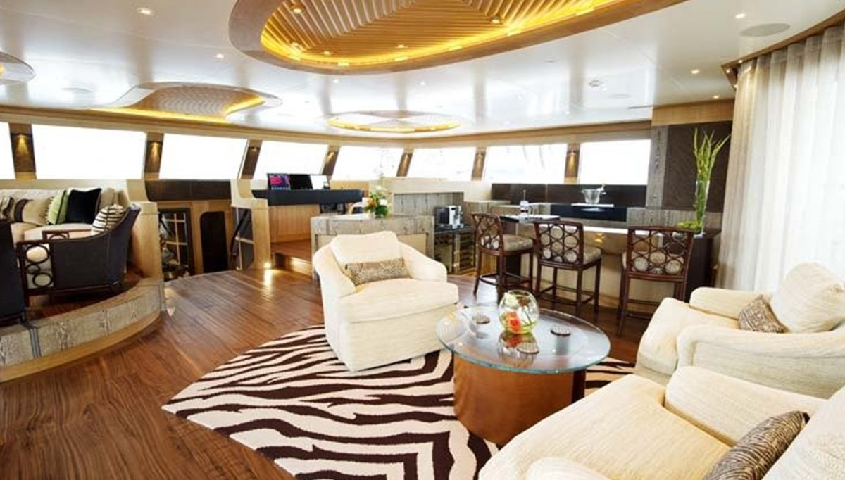 Sailing catamaran HEMISPHERE by Pendenniswith interior design by Michael Leach. 2