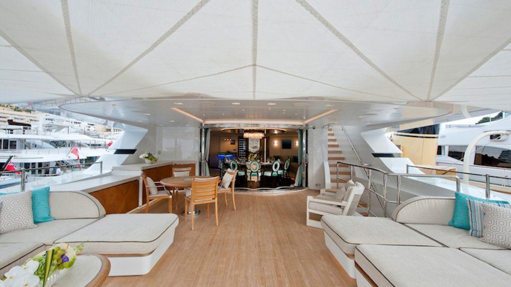 Sanlorenzo 46Steel Scorpion upper deck